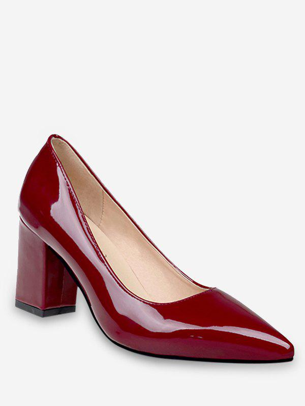 Plus Size Pointed Toe Leisure Going Out Pumps - RED WINE 38