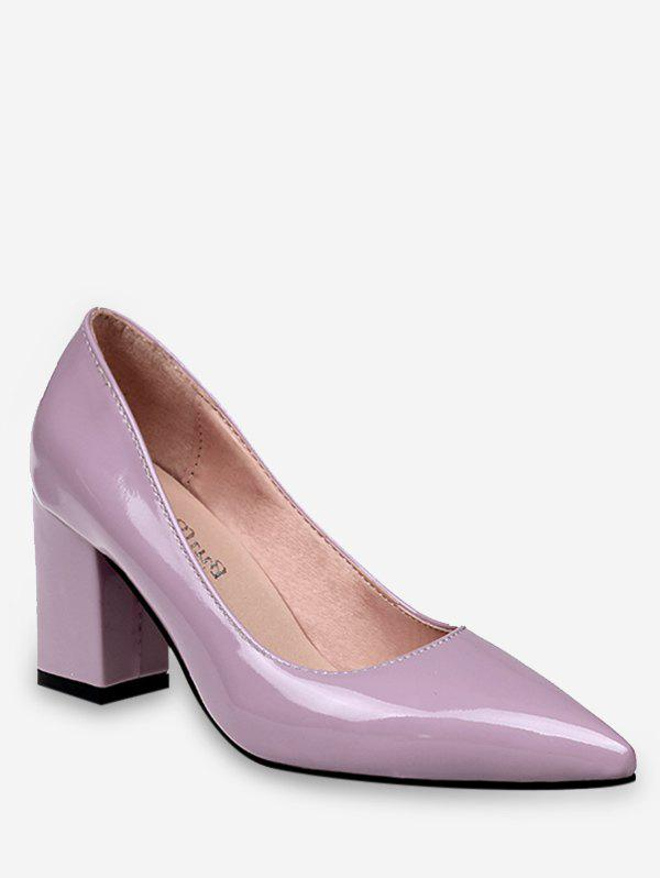 Plus Size Pointed Toe Leisure Going Out Pumps - MAUVE 39