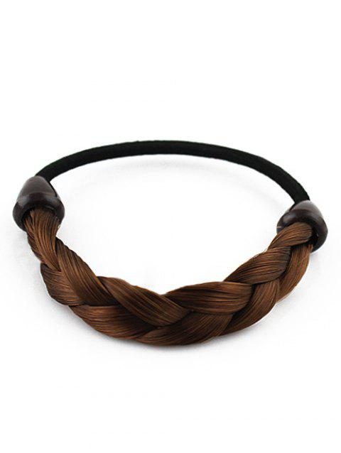 Twist Rope Ring Elastic Hairband - BROWN