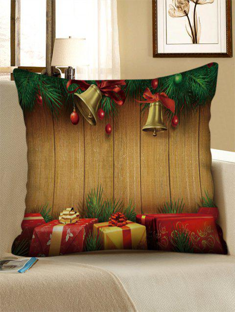 Christmas Bell Pattern Decorative Linen Pillowcase - multicolor W17.5 INCH * L17.5 INCH