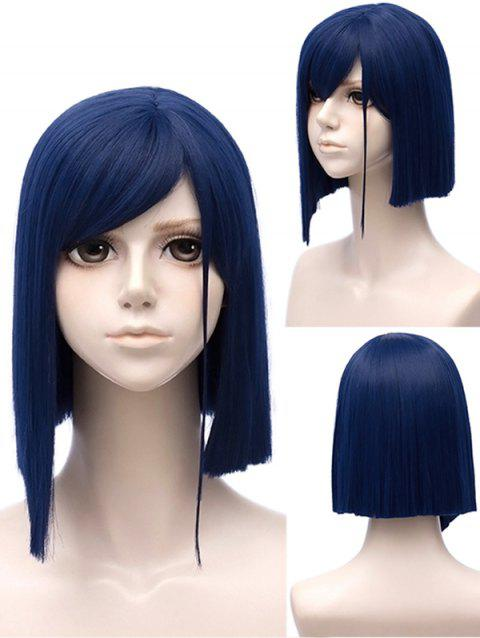 Perruque Synthétique Courte Lisse avec Frange Style Personnage 015 du Dessin Animé Darling in the FranXX Style Cosplay - Bleu Royal