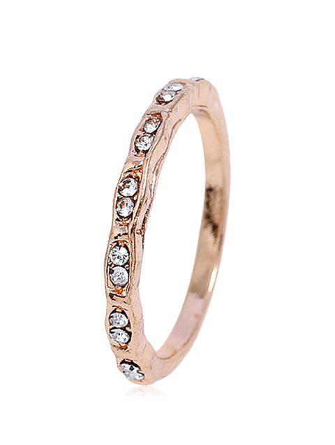 Bague Style Simple avec Strass - Or