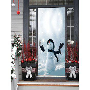 Christmas Snowman Print Decorative Door Stickers - multicolor 38.5*200CM*2PCS