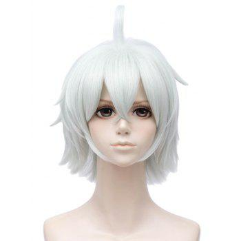Short Upwards Straight Travel Frog Cosplay Party Synthetic Wig - AZURE
