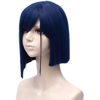 Short Side Bang Straight Synthetic Anime DARLING in the FRANXX 015 Cosplay Wig - ROYAL BLUE
