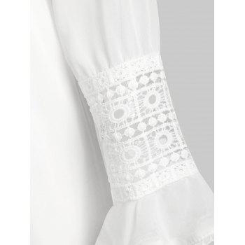 Combi-Pantalon Transparent au Crochet en Dentelle - Blanc XL