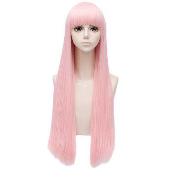 Long Full Bang Straight Synthetic Anime Darling in the FranXX Zero Two Cosplay Wig - LIGHT PINK