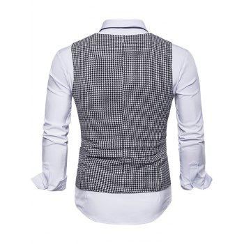 Single Breasted Plaid Suit Vest - WHITE XL