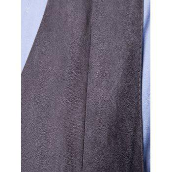 Slim Fit Double Breasted Formal Waistcoat - GRAY L