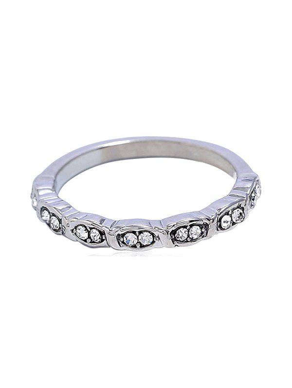 Bague strass style simple - Argent