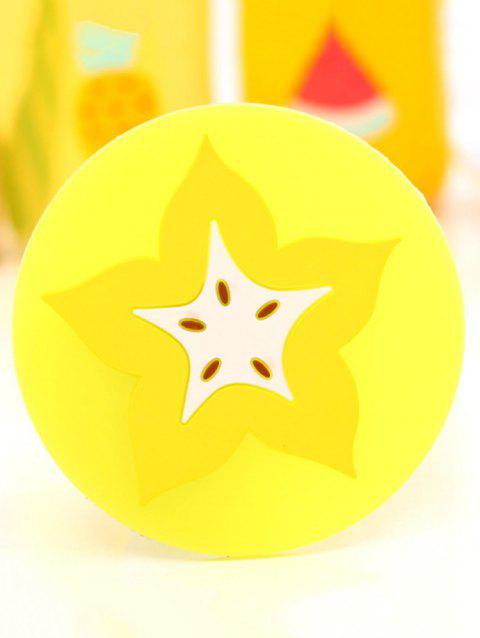 Silicone Fruit Design Anti-skid Cup Mat - YELLOW