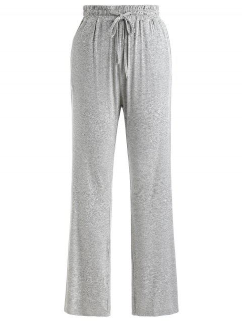 Flare Sleeping Pants - LIGHT GRAY M
