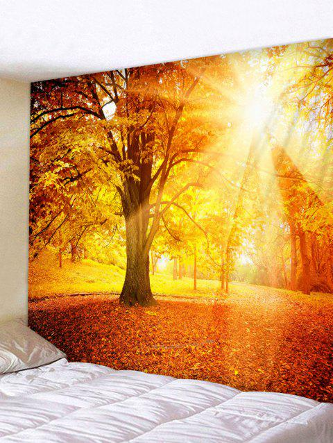 Fall Sunshine Printed Tapestry Wall Art Decoration - multicolor W59 INCH * L51 INCH