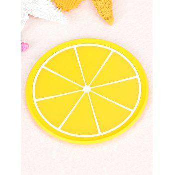 Silicone Fruit Design Anti-skid Cup Mat - CORN YELLOW