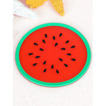 Silicone Fruit Design Anti-skid Cup Mat - RED