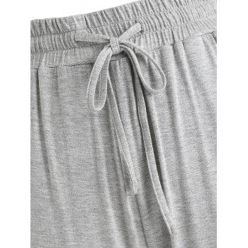 Flare Sleeping Pants - LIGHT GRAY 2XL