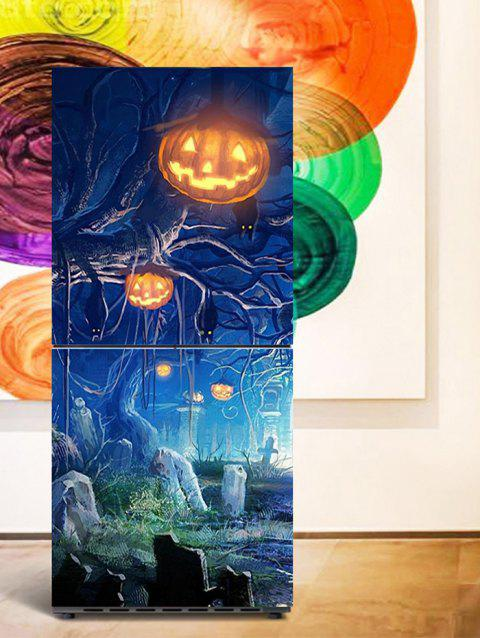Halloween Pumpkin Tree Print DIY Fridge Sticker - BLUE 1PC:24*59 INCH( NO FRAME )