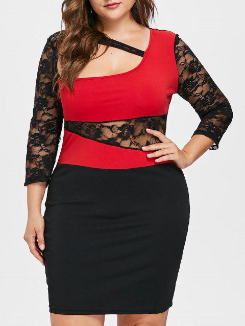 Cut Out Plus Size Bodycon Dress - BLACK 5X