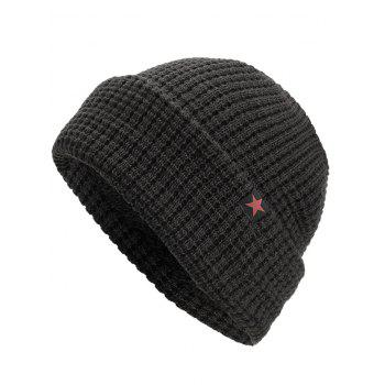 Outdoor Label Star Slouch Warm Beanie - BLACK