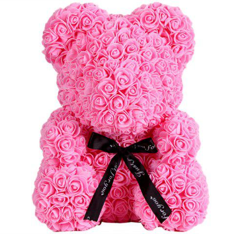 Valentine's Day Gift Artificial Roses Bear Wedding Party Decoration - PINK