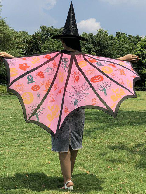 Halloween Patterns Imprimé Adultes Bat Cape - multicolor F