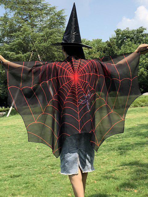 Halloween Patterns Imprimé Adultes Bat Cape - multicolor I