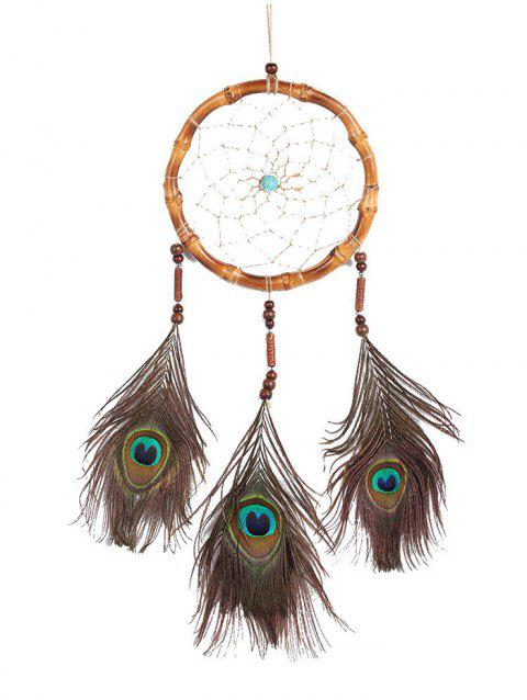 Wall Hanging Handmade Feather Dream Catcher - multicolor 65*17CM