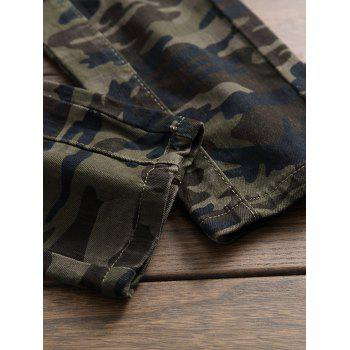 Camo Zip Fly Multi-pocket Jeans - ACU CAMOUFLAGE 38