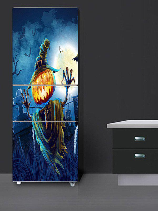 Halloween Pumpkin Moon Print Decorative Fridge Stickers - multicolor 1PC:24*59 INCH( NO FRAME )