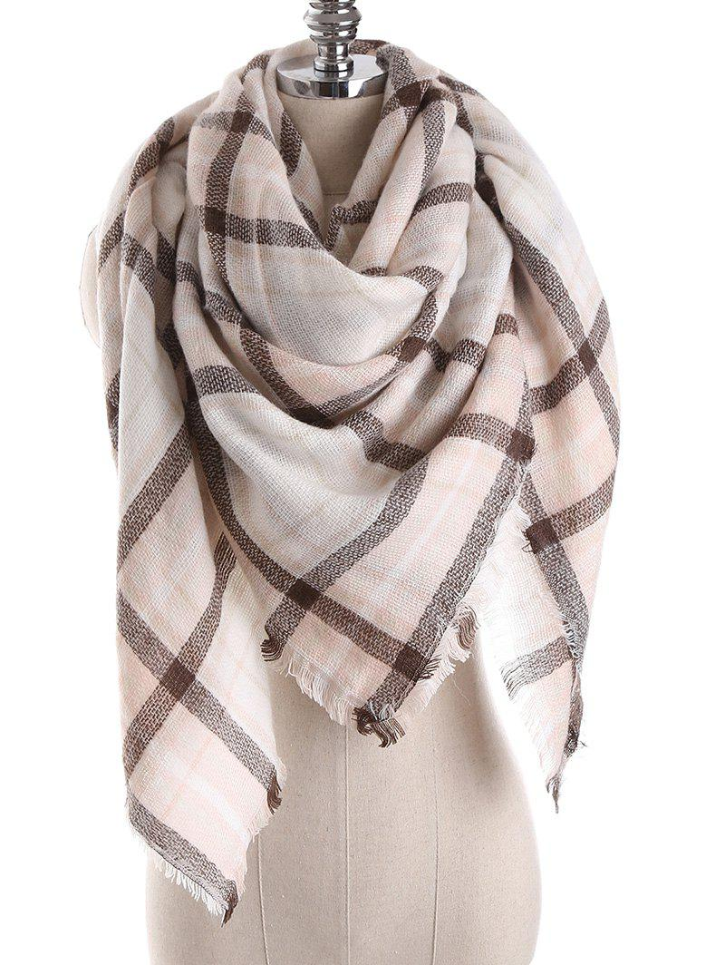 Winter Checkered Shawl Wrap Blanket Scarf - multicolor D ONE SZIE