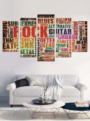 Unframed Letter Split Canvas Paintings