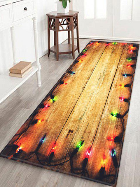 Wooden Bulb Print Water Absorption Floor Rug - multicolor W24 INCH * L71 INCH