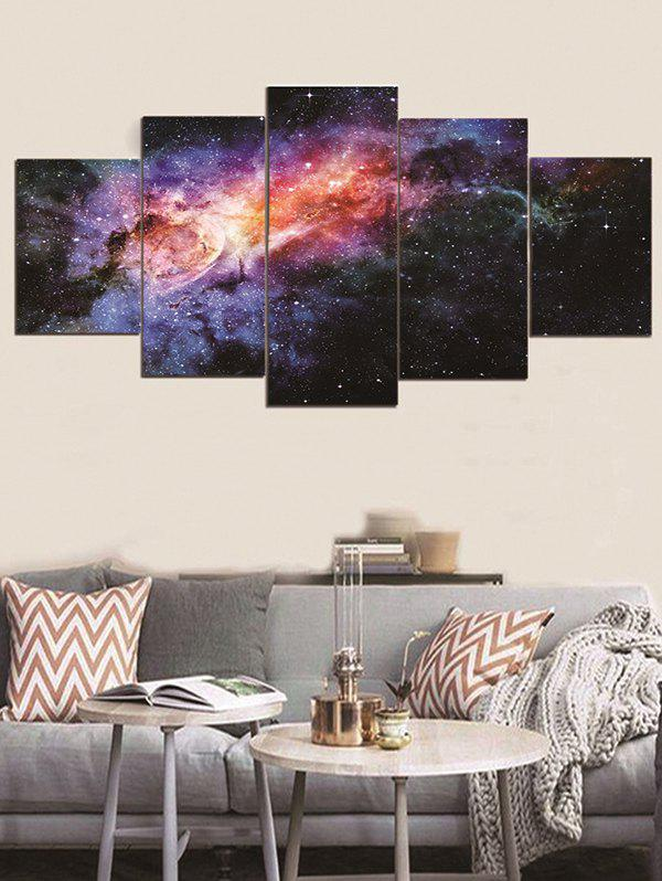 Galaxy Print Unframed Canvas Paintings - multicolor 1PC:8*20,2PCS:8*12,2PCS:8*16 INCH( NO FRAME )