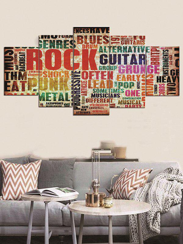 Unframed Letter Split Canvas Paintings - multicolor 1PC:12*31,2PCS:12*16,2PCS:12*24 INCH( NO FRAME )