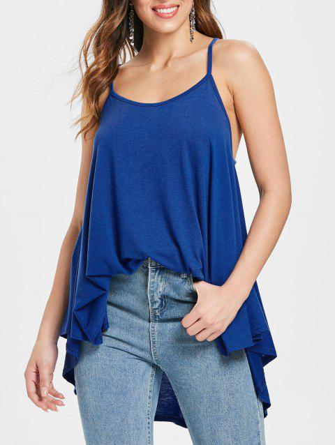 Cami Straps Swing Tank Top - BLUE S