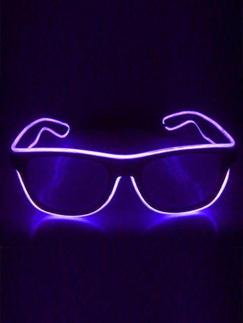 EL Glowing Glasses Party Cosplay - PURPLE FLOWER