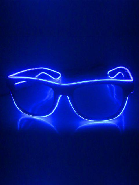 EL Glowing Glasses Party Cosplay - COBALT BLUE