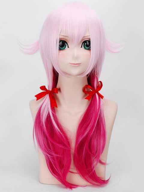 Long Braids Tail Upwards Straight Colormix Guilty Crown Inori Yuzuriha Anime Cosplay Wig - PIG PINK
