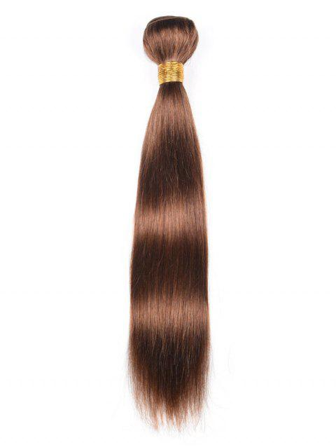 Indian Real Human Hair Straight Hair Weave - BROWN 14INCH