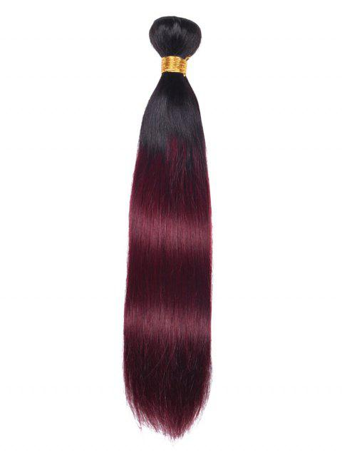 Ombre Straight Indian Virgin Human Hair Weave - multicolor 10INCH