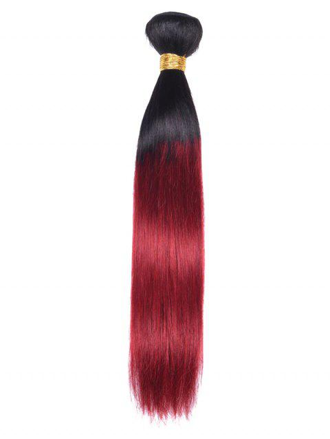 Indian Virgin Human Hair Ombre Straight Hair Weave - multicolor 24INCH