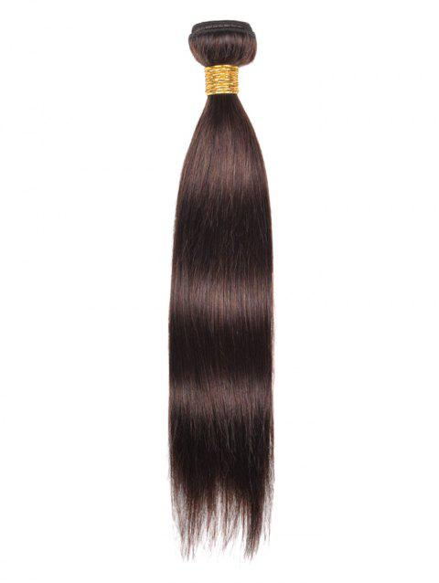 Indian Virgin Real Human Hair Straight Hair Weve - DEEP BROWN 20INCH