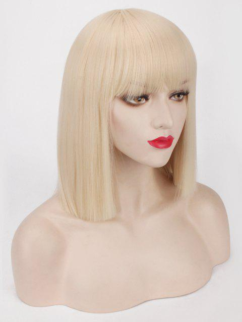 2019 Short Full Bang One Length Straight Bob Synthetic Party Wig In