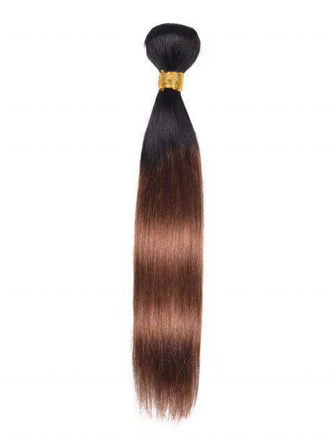 Ombre Straight Indian Real Human Hair Weave - multicolor 12INCH