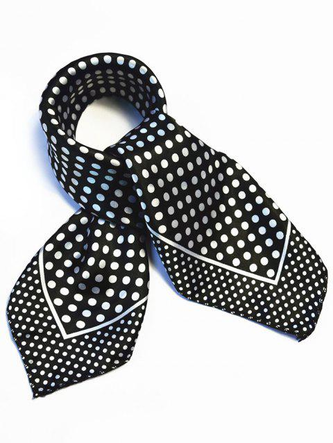 Polka Dot Printed Silky Handkerchief - BLACK