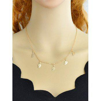 Collier en alliage simple - Or