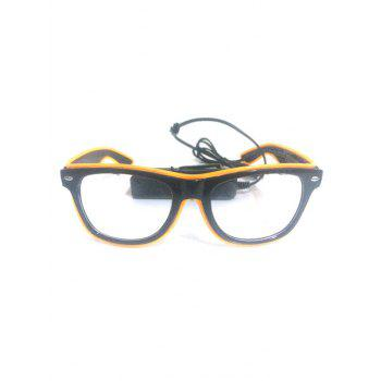 Lunettes Lumineuses pour Fête Cosplay - Jaune