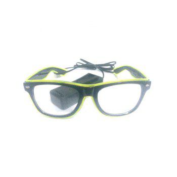 EL Glowing Glasses Party Cosplay - CHARTREUSE