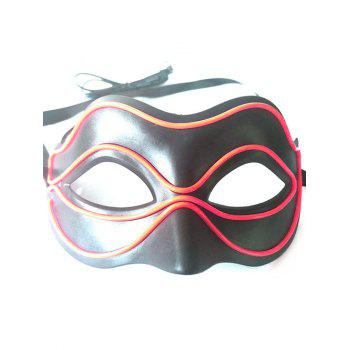 Halloween Party EL Glowing Mask - FIRE ENGINE RED