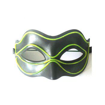 Halloween Party EL Glowing Mask - CHARTREUSE